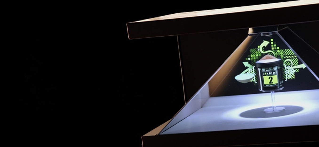 pyramid hologram display
