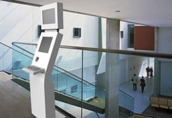 self service kiosk inside a hospital