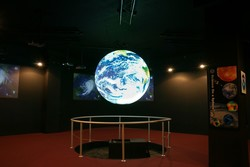 Hologram image of the Earth