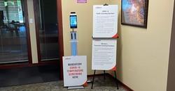 LamasaTech Zentron Temperature Scan Kiosk at SC Johnson