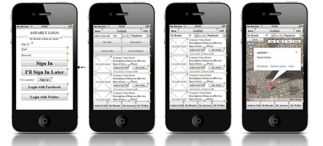 Wireframes Concept App iOS